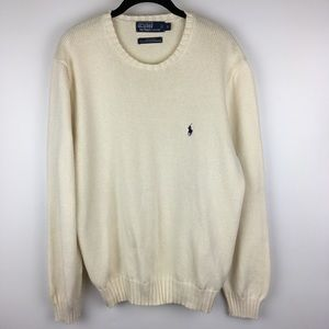 Polo RL Mens Large Thick Knit Cotton Sweater